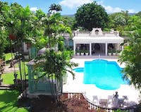 Aerial View of Pool at Leamington Pavillion, Barbados