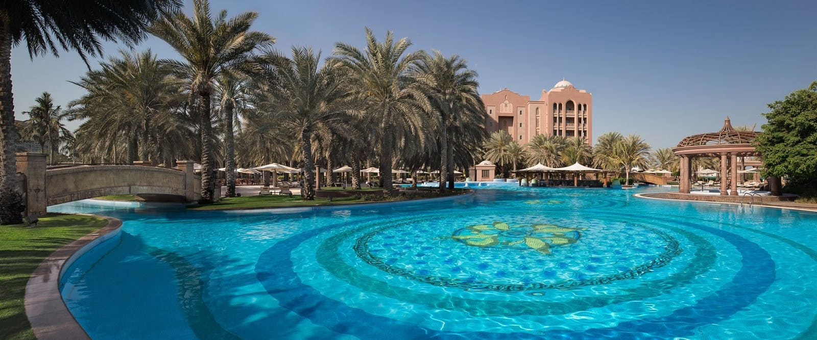 Swimming pool east wing at Emirates Palace, Abu Dhabi