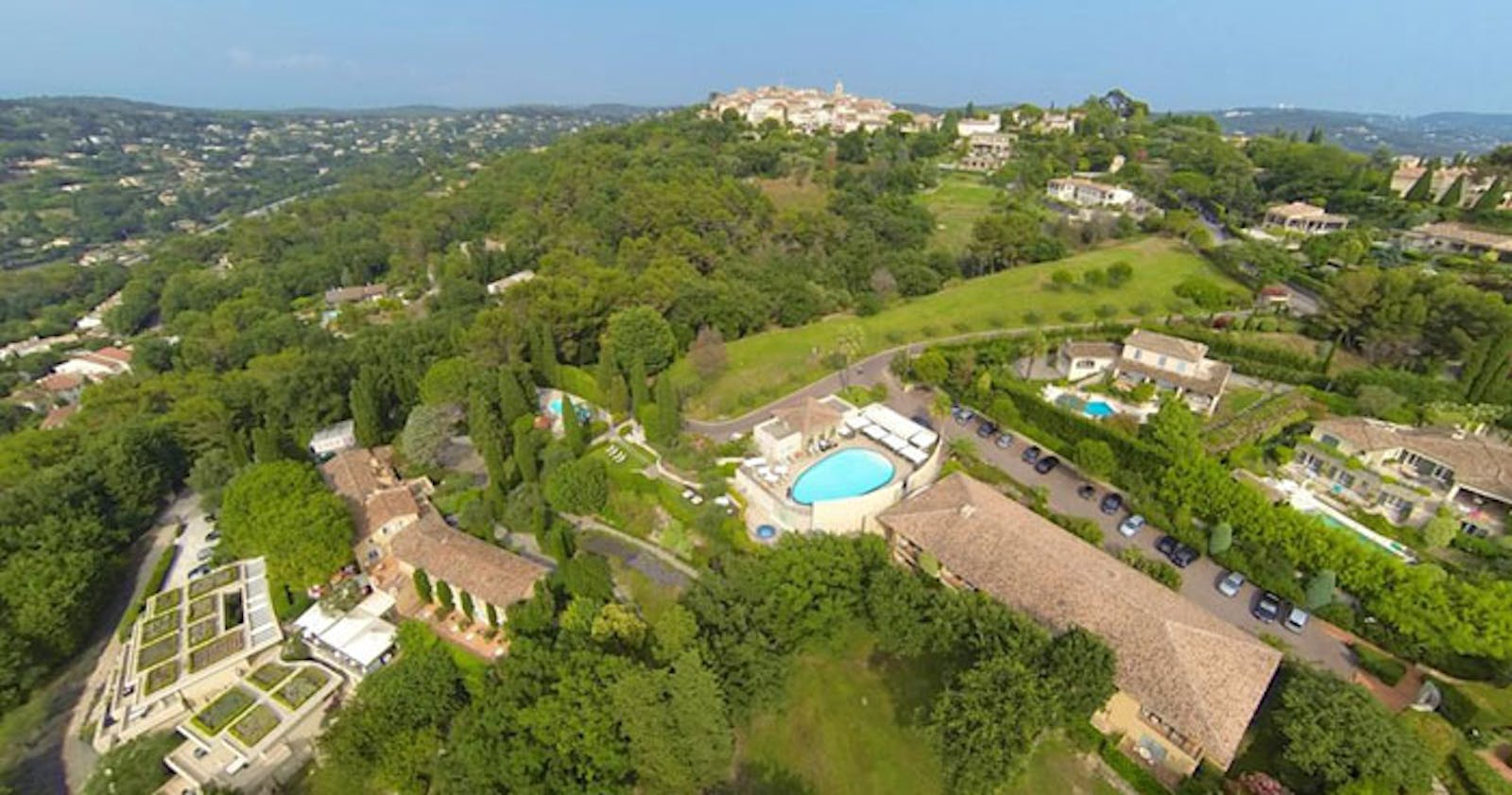 Birds Eye View of Le Mas Candille, Riviera, France