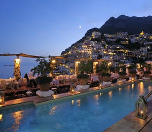 Beautiful view at Le Sirenuse, Amalfi Coast, Italy