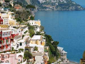 Beautiful View of Le Sirenuse, Amalfi Coast, Italy