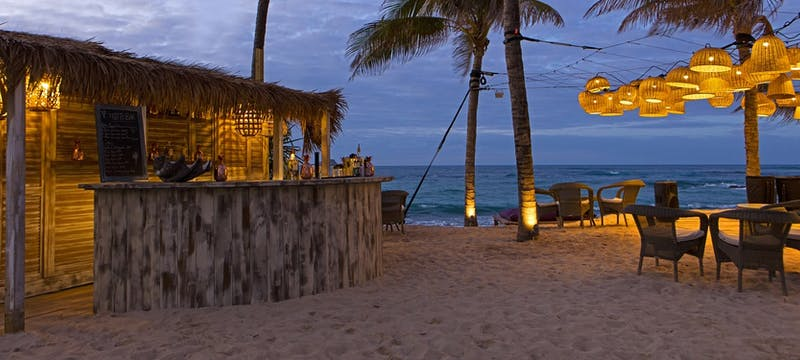 Mojito bar on the beach at Le Guanahani, St Barths