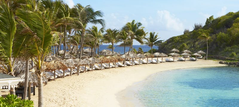 Relax along the shoreline at Le Guanahani, St Barths