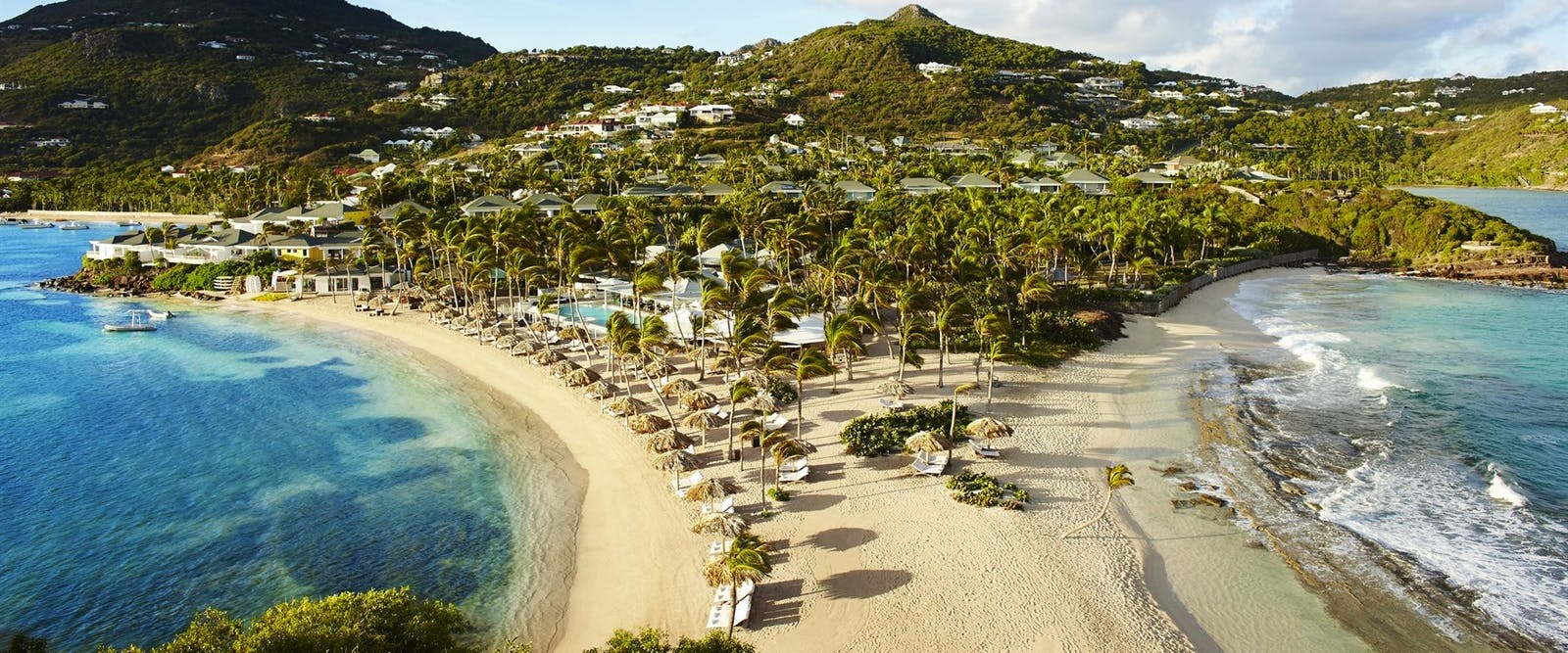 View of the bay at Le Guanahani, St Barths