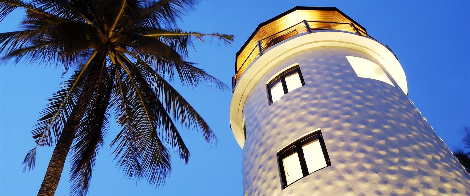 Lighthouse at night at The Racha