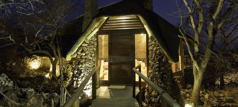 Entrance to tent at Little Ongava Lodge