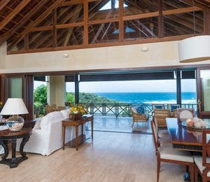 Living Room at Little Blue Ocean, Canouan