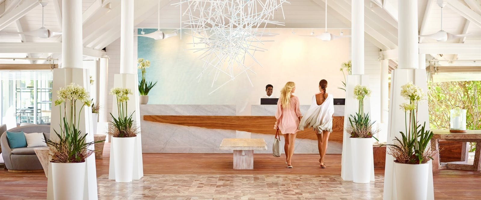 Lobby at LUX* South Ari Atoll, Maldives, Indian Ocean