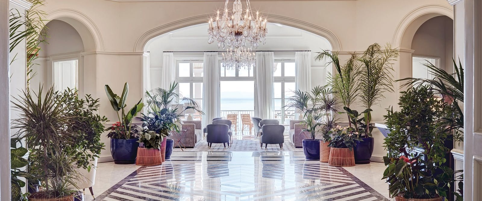 The Lobby at Reid's Palace, A Belmond Hotel, Madeira, Portugal