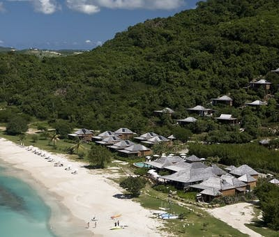 Aerial view of Hermitage Bay, Antigua