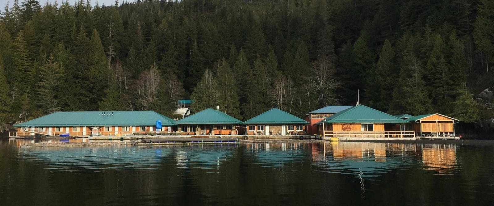Exterior of Knight Inlet Lodge