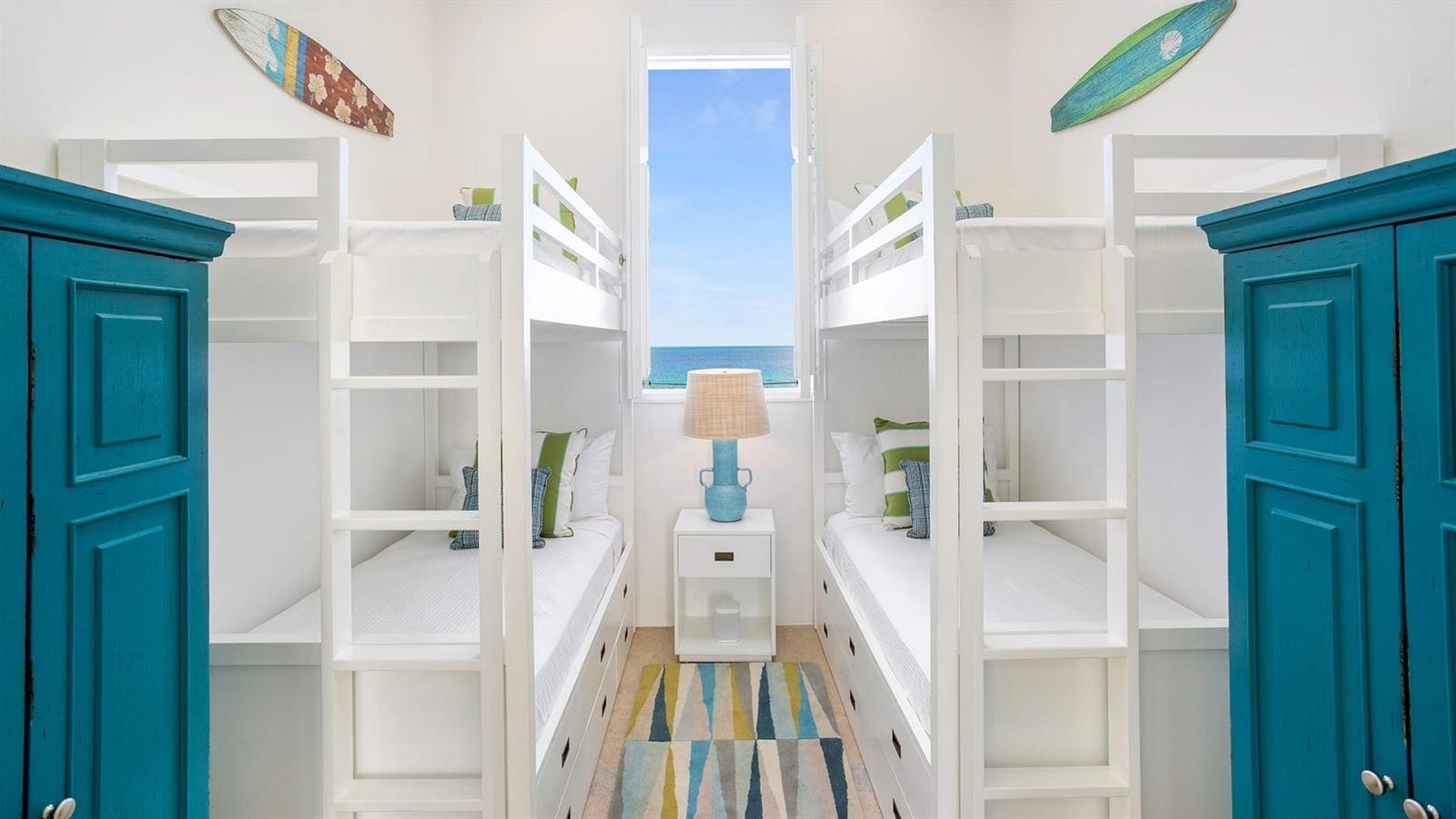 kids bunk room at bedroom at sand villa long bay villas anguilla