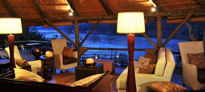 Lounge area at Serena Mivumo River Lodge