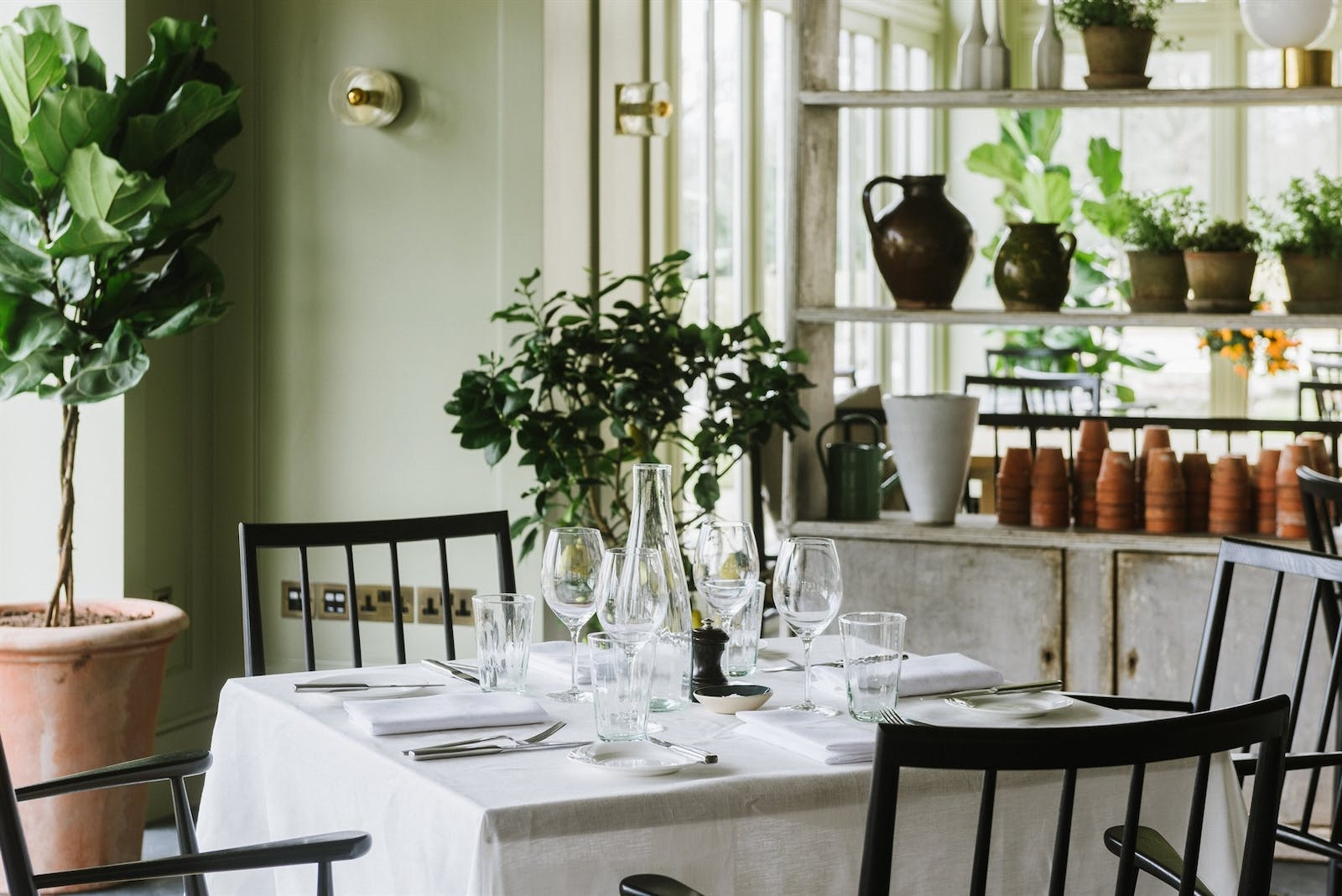 Dining at Marle in Heckfield Place, Hampshire