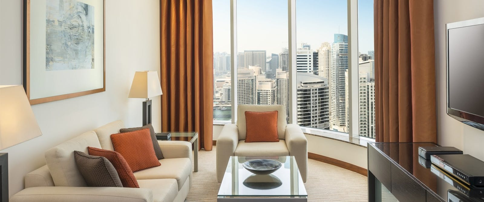 Deluxe Suite Living Room at Grosvenor House, Dubai