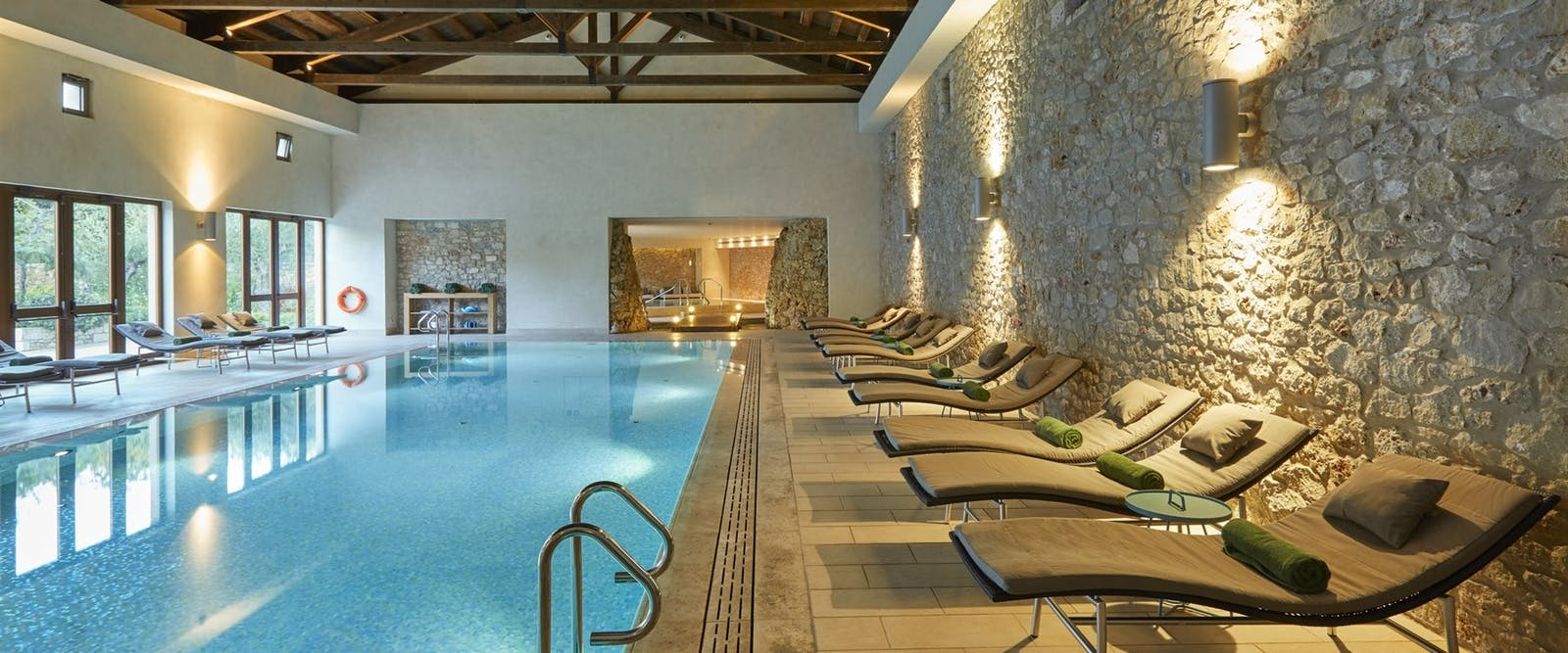 Health Club Pool at The Romanos, a Luxury Collection Resort, Peloponnese, Greece