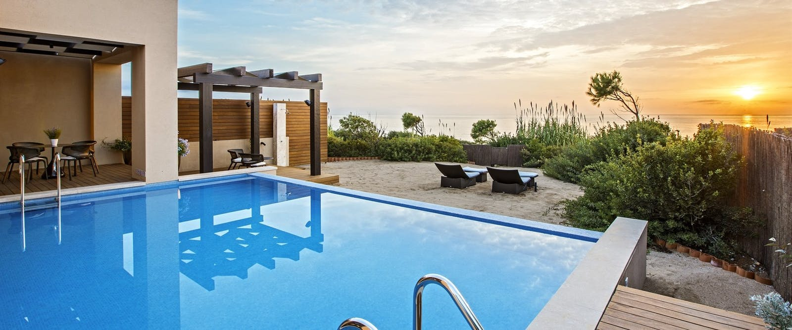 Master Infinity Villa Pool at The Romanos, a Luxury Collection Resort, Peloponnese, Greece