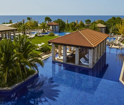 Pool view at The Romanos a Luxury Collection Resort