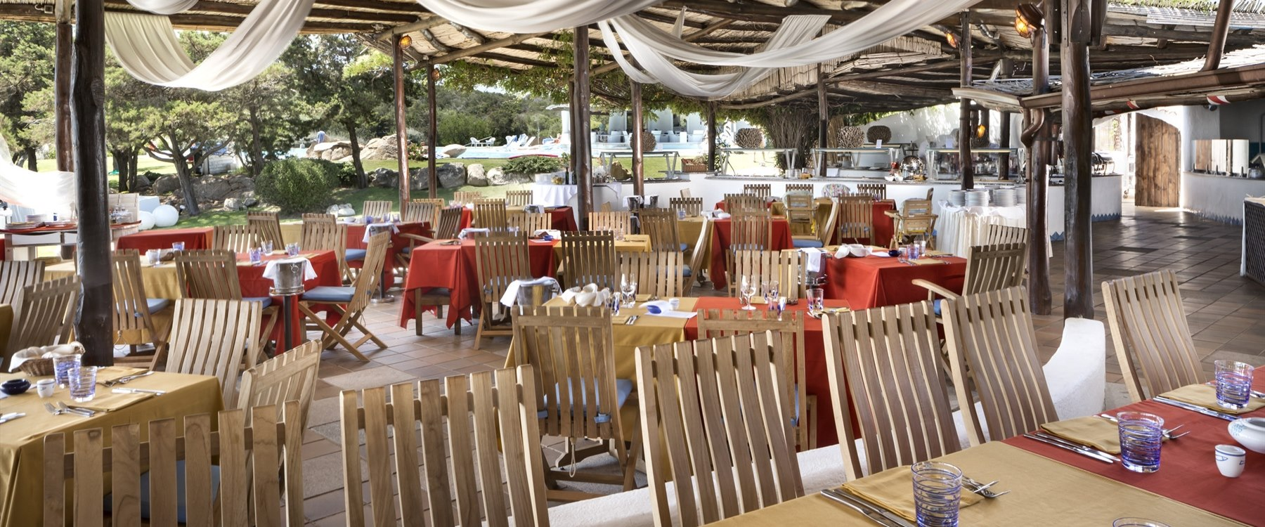 barbecue restaurant at Hotel Romazzino, Sardinia