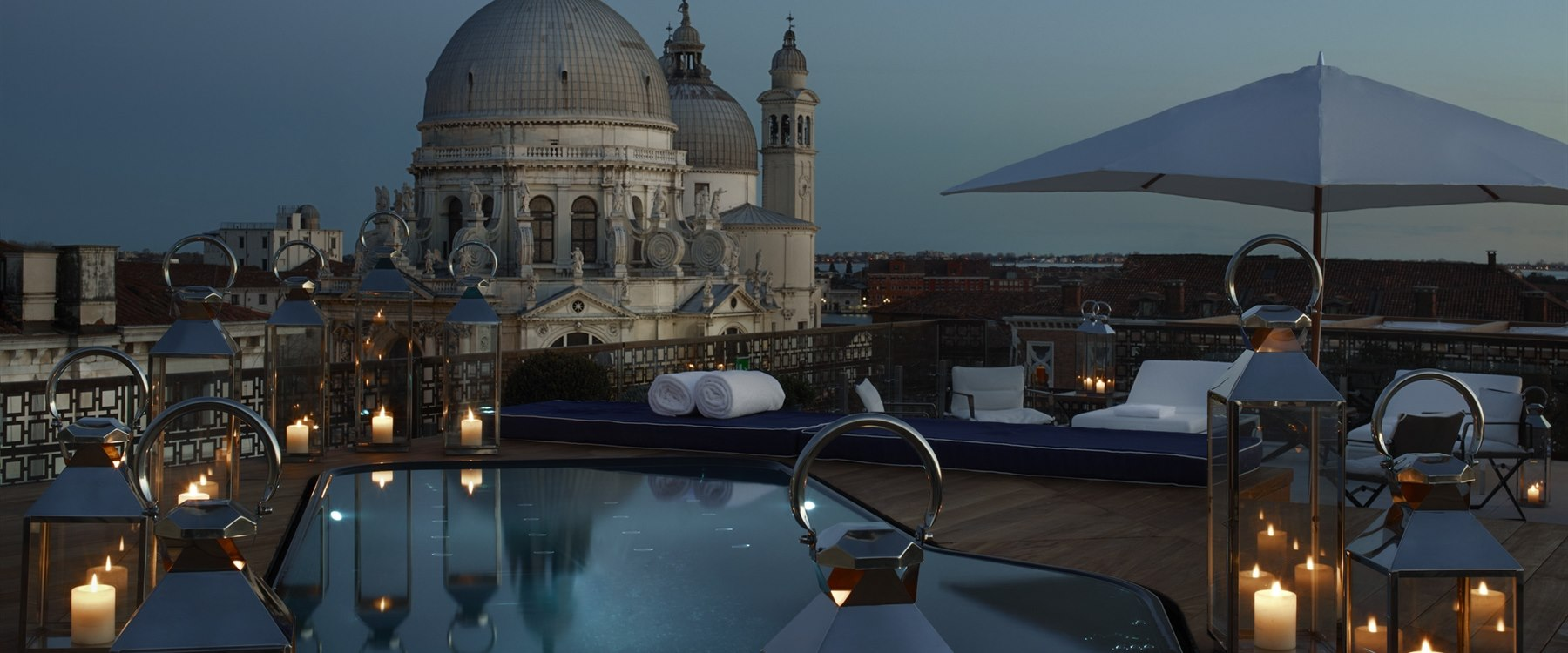 the rendentore terazza suite plunging pool at Gritti Palace, Venice