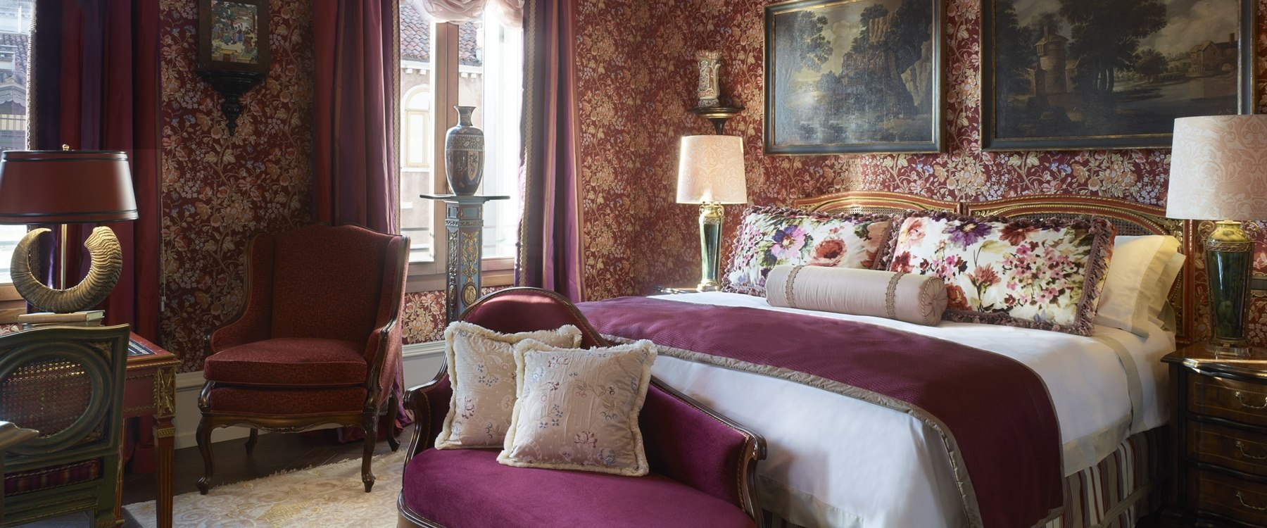 the ruskin patron grand canal suite at Gritti Palace, Venice