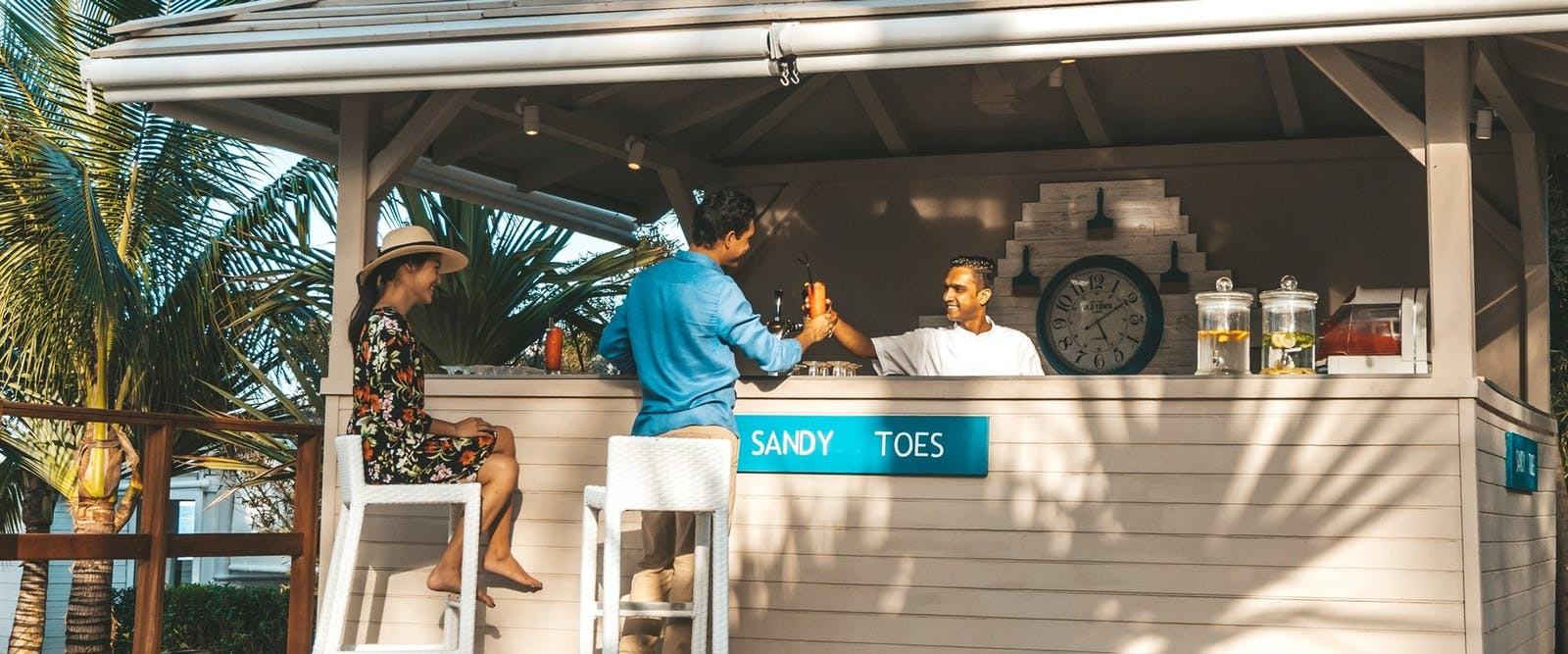 Sandy Toes Bar at LUX* Belle Mare, Mauritius