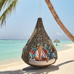 Swinging Chair at LUX* South Ari Atoll, Maldives, Indian Ocean