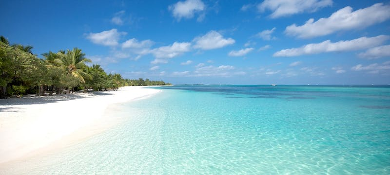 The beach at LUX* South Ari Atoll, Maldives