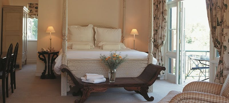 Luxury bedroom at Franschhoek Country House and Villas