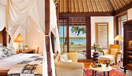 Luxury villa with ocean view at The Oberoi Lombok