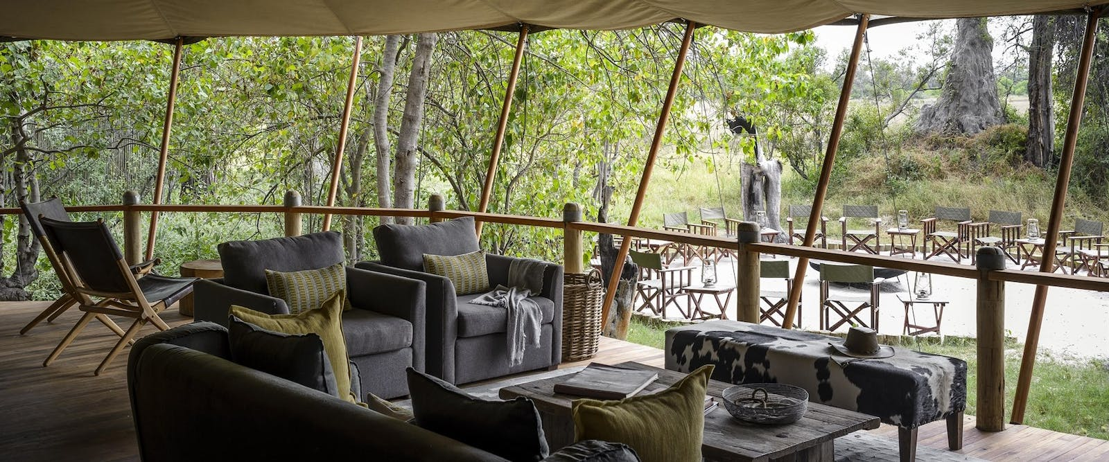 Lounge Area at Sanctuary Stanley's Camp, Botswana
