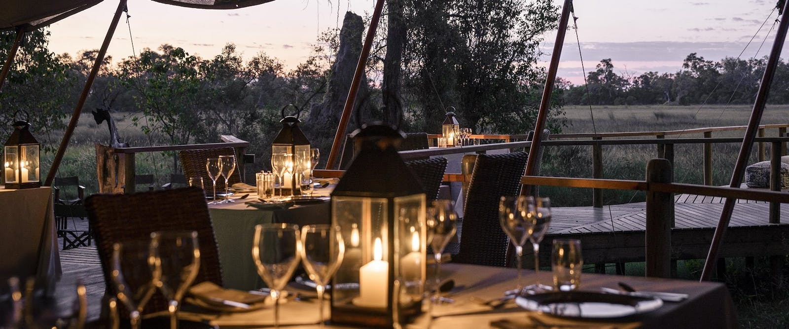Restaurant at Sanctuary Stanley's Camp, Botswana