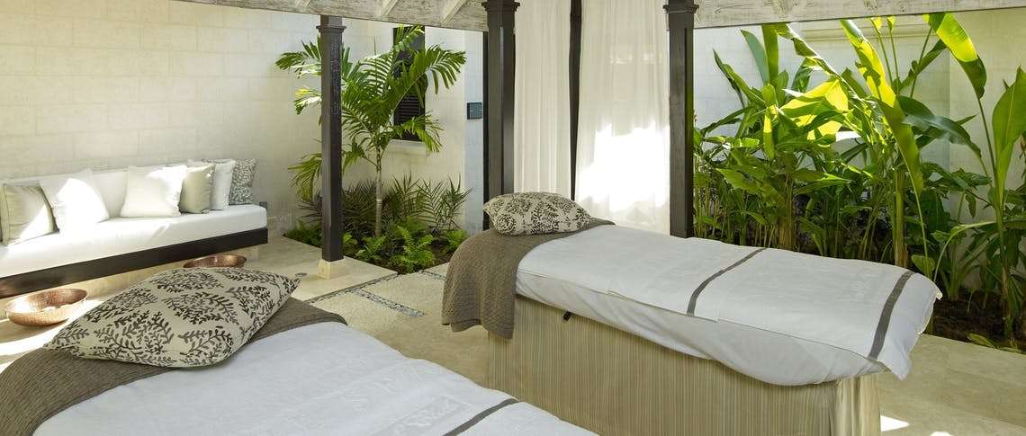 spa treatment area at coral reef club barbados