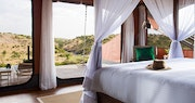 Valley View Luxury Tented Suite Lounge at Mahali Mzuri, Kenya