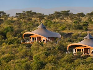 outside pool at mahali mzuri keyna