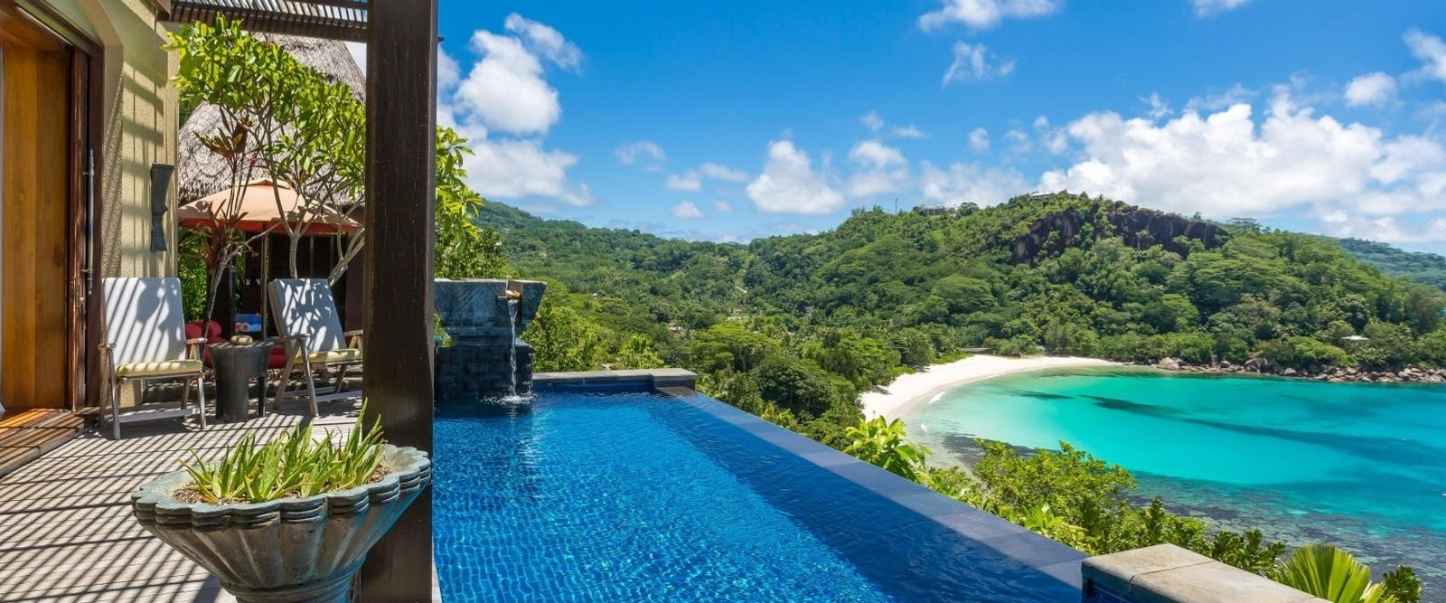 Private Infinity Pool at Maia Luxury Resort & Spa, Seychelles