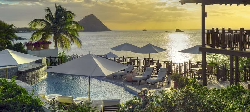 Main pool area at Cap Maison, St Lucia