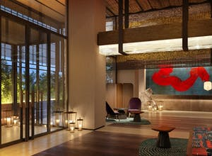 Nobu Barcelona Lobby at night