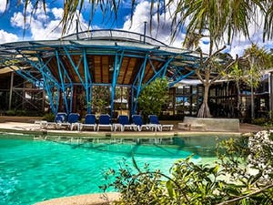 Swimming pool, Kingfisher Bay Resort, Fraser Island