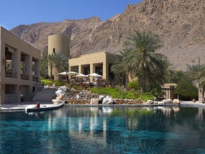 Main pool at Six Senses Zighy Bay, Oman