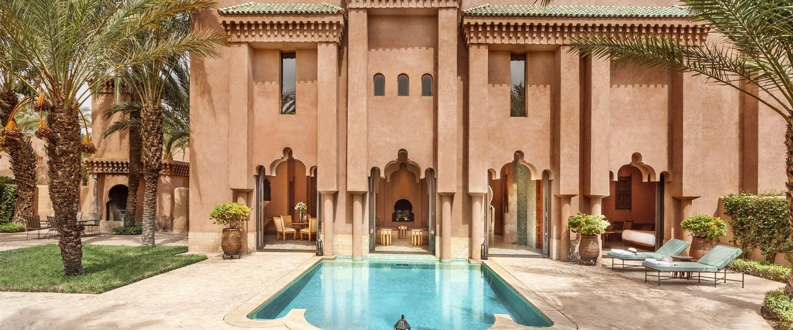 Maisons Jardin Garden Pool at Amanjena, Marrakech, Morocco