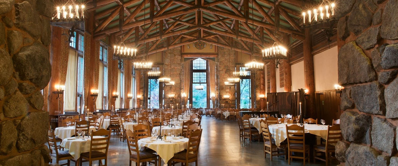 Majestic Dining Room at Majestic Yosemite Hotel, California