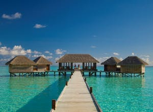 A luxury holiday to the Maldives