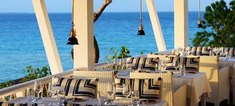 The Restaurant at Malliouhana provides fresh sea-to-table offerings