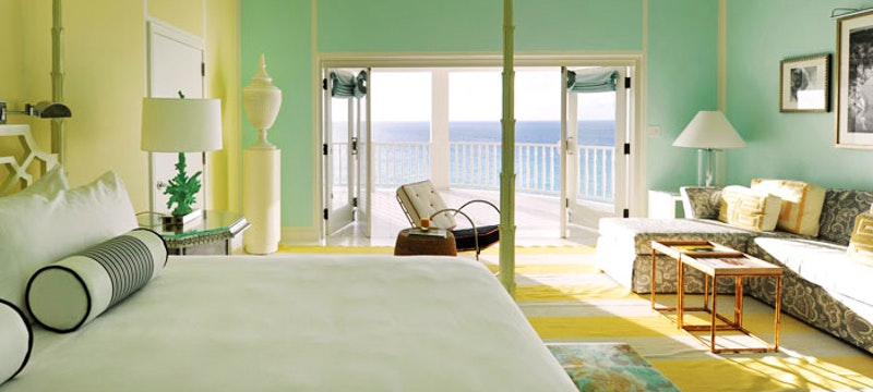 An Oceanview Premium room at Malliouhana