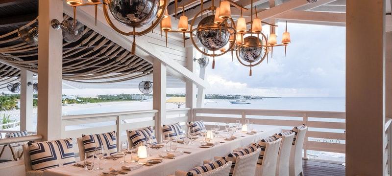 Contemporary restaurant at Malliouhana, Anguilla