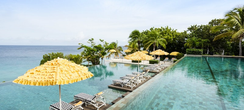 Infinity pool with a view at Malliouhana, Anguilla