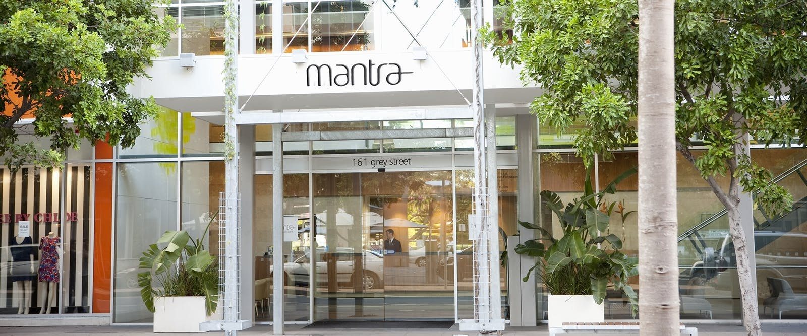 Entrance to Mantra Southbank Brisbane