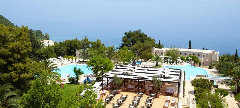 Overview Marbella Corfu, Greece
