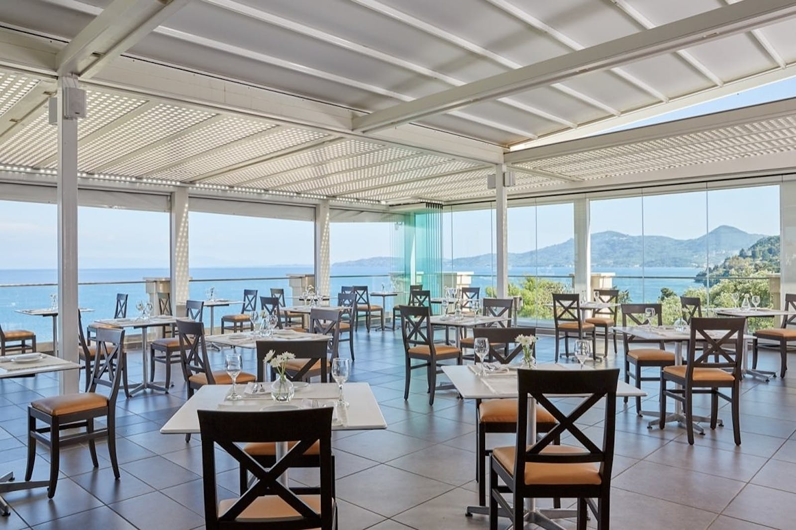 beach dining at marbella corfu cyprus